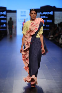 Ka-Sha's sari with twist